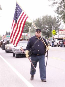 Parade US Civil War Reenactor